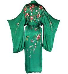 1930s embroidered rayon kimono robe | Vintage Clothing | Kakkoii Mono