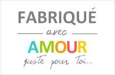 """Étiquettes """"fabriqué avec amour"""", au format PDF à imprimer..."""
