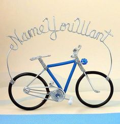 Bike With Name You Want! allenwireart.com