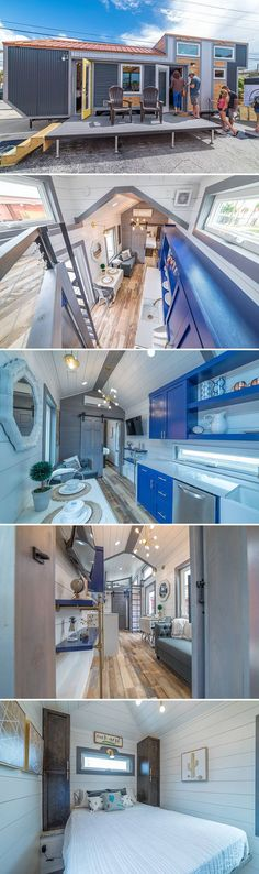 From Melbourne, Florida-based Movable Roots is the Henderson, a 30-foot tiny house with main floor master bedroom and guest loft bedroom.