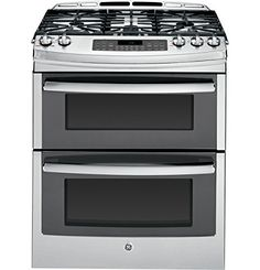 "GE PGS950SEFSS Profile 30"" Stainless Steel Gas Slide-In Sealed Burner Double Oven Range - Convection General Electric http://smile.amazon.com/dp/B00ET0M2GM/ref=cm_sw_r_pi_dp_YSBFwb0ACHHXK"
