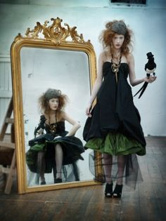 """""""(use different image on the mirror)"""" - Hey, don't walk away when I'm talking to you ~:^D>"""