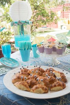 The crab croissants at this Under the Sea birthday party are so much fun!! See more party ideas and share yours at CatchMyParty.com
