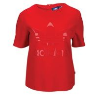 adidas Originals 70's Young Wild And Free Raw Edge T-Shirt - Women's - Red / Red
