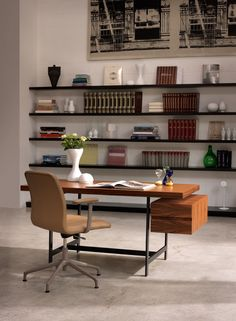 LOCHNESS Desk by Piero Lissoni, made in Italy by Cappellini and available at Centro.