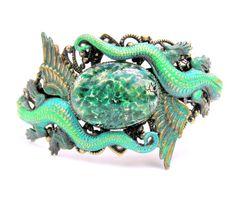 Dragon Cuff Bracelet Game of Thrones Inspired by lovelandshadetree
