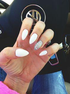... finger more white stiletto nails nail designs nailss nail art white