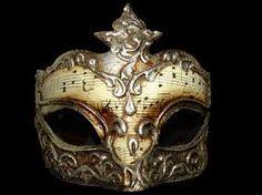 Music note venetian mask