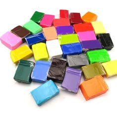 32 colos bloques de niños de los niños de interior diy hecho a mano polymer clay modeling juguete suave fimo playdough juguete educativo con 3 herramientas k5bo