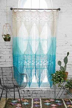 The Crochet Curtains Curtains With Charm Of Covers Home Select. Cool Patterns For Crochet Curtains Guide Patterns. In Home Design Category and Modern Home Interior Designer. My New Room, My Room, Hipster Decor, Diy Casa, Crochet Curtains, Beaded Curtains, Fringe Curtains, Layered Curtains, Diy Home