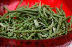 These Fresh Green Beans are deliciously roasted and easy to serve at a dinner party. Plus enjoy a round up of other recipes by my friends!