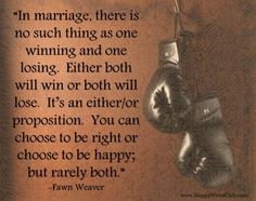 In #marriage there is no such thing as one winning and one losing. #Quote