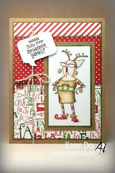 Karen Day for Art Impressions: Reindeer Games