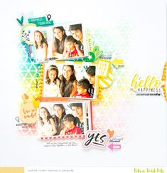 Like background colors HELLO HAPPINESS - Scrapbook.com