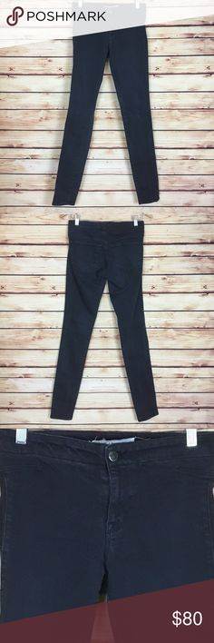 """J Brand Hussein Chalayan Legging Jeans Charcoal 27 J Brand X Hussein Chalayan jeans. """"The Legging"""" style in charcoal gray. Mid rise. Skinny fit. Back pockets. Size 27. 98% cotton 2% Lycra. Excellent preowned condition with light wear around seams and pockets (see picture). J Brand Jeans Skinny"""
