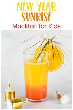 Healthy Meals For Kids 3 ingredient alcohol free easy mocktail for kids - perfect for New Years Eve and other celebrations Easy Mocktails, Easy Mocktail Recipes, Mocktails For Kids, Kid Drinks, Party Food And Drinks, Non Alcoholic Drinks, Yummy Drinks, New Year's Eve Appetizers, Cocktail And Mocktail