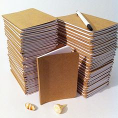 Bulk Plain Notebooks, Handmade Tiny Pocket Large Journals, Personalized Journal, Mini Diaries, Jotters, Blank Books, Kraft Paper Notebook === QUANTITY: 1 to 400 individually handmade notebooks SIZES: TINY 2.5 x 4 inches | POCKET 3.5 x 5 inches | LARGE 5 x 8 inches BINDING: perfect-bound w/