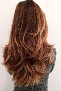 11 Long hair with layers and highlights for natural movement