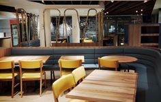 Discover one of our interior restaurant design projects that has attracted a new clientele to an established family establishment. Restaurant Interior Design, Design Projects, Conference Room, Table, Designers, Furniture, Home Decor, Homemade Home Decor, Meeting Rooms