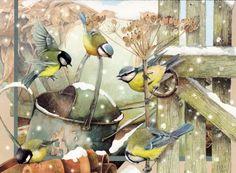 Marjolein Bastin ~ Birds announce the snow's arrival