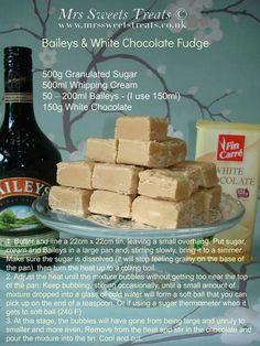 Baileys and White Chocolate Fudge
