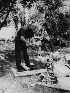 Aubrey Tomah in Houlton, Maine - Maliseet - circa 1950