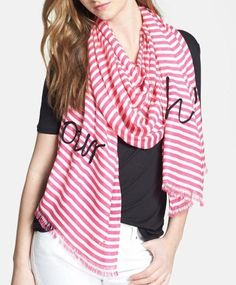 Ohh la la! This embroidered Kate Spade scarf is gorgeous.