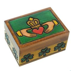 Wooden Irish Claddagh Box – personalizable! | The Catholic Company