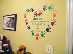 Bible Murals For Classroom Walls Wall Praise Scripture