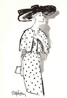 Esther M. Larson – Fashion Illustrator     Esther Larson Bergdorf Goodman Fashions - 1964