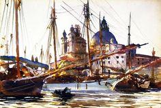 John Singer Sargent, The Church of Santa Maria della Salute, Venice, c. 1904-1909. Watercolor over pencil on paper, 36.8 x 53.3 cm. Calouste Gulbenkian Foundation, Lisbon.