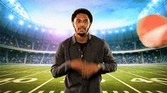 New party member! Tags: football superbowl oh shit trey songz fumble drop the ball