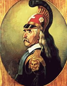 1821 - 25 March: The beggining of the Greek Revolution War. I cannot upload all of the great warriors, so I chose to upload a picture of Theodore Kolokotronis. May you rest in peace brave men