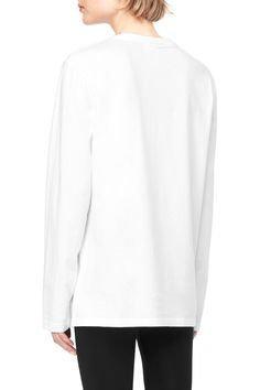 Weekday image 5 of Long Sleeve Crewneck T-shirt in White