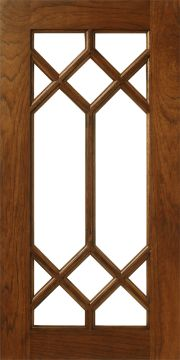 hickory cabinet door frame with mullions muntins