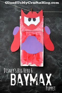 Disney's Big Hero 6 Baymax Puppet {Kid Craft} #bighero6release #ad Fun Crafts For Kids, Activities For Kids, Hero Crafts, Big Hero 6 Baymax, Puppet Crafts, Camping Crafts, Disney Crafts, Inspiration For Kids, Art Classroom