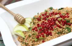 Pomegranate Kasha Salad with honey dressing - made with roasted bulgur ...