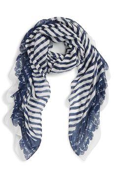 nautical stripe scarf