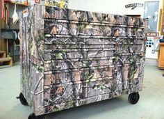 camo tool box. For the hubby's man cave!!