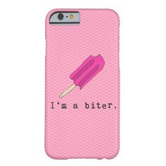 I'm A Biter Pink Popsicle iPhone Case Barely There iPhone 6 Case