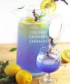 Coconut Lavender Lemonade and more seasonal spring cocktail recipes Summer Drink Recipes, Summer Drinks, Fun Drinks, Healthy Drinks, Simple Cocktail Recipes, Healthy Smoothies, Cocktail And Mocktail, Spring Cocktails, Cocktail Food