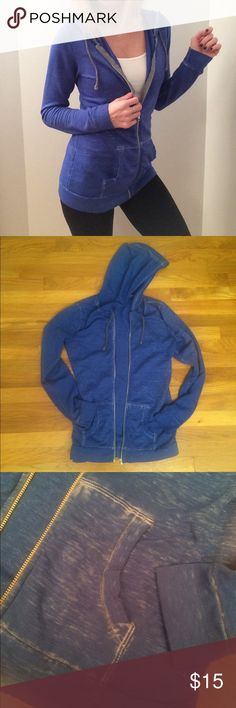 ♥️5 for $25♥️ Royal Blue Washed Out Jacket GREAT CONDITION! Tops Sweatshirts & Hoodies