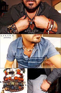 Gemstones jewelry - Beaded surfer Lariat Necklaces