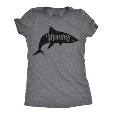 d5fb0d414e7 Mommy Shark Shirt, Womens Sharks T Shirt, Beach Shirt Women, Summer T Shirts