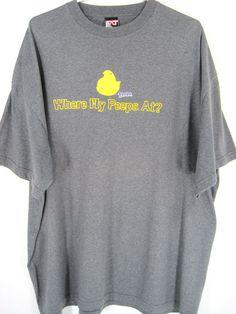 Men Graphic T-shirt Size 2XL Where My Peeps At Logo Gray Cotton Blend. #WhereMyPeepsAt #GraphicTee