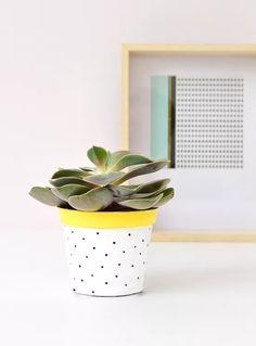 DIY Dot Plant Pot