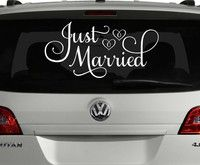 Just Married Car Decal, Just Married Sign for Car, Wedding Car Decoration, Wedding Car Decal, Custom