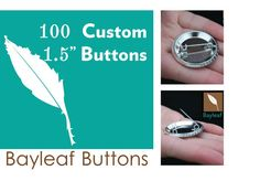 100 Custom pin back buttons by BayleafButtons on Etsy, $63.00  #sale #unique #handmade #chic #custom