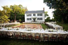 Country wedding setup. :)