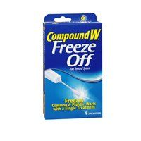 Compound W Freeze Off Wart Removal System - 8 Count Plantar Wart Removal, Warts Remedy, Get Rid Of Warts, Contact Dermatitis, Dry Skin On Face, Skin Tag Removal, Mole Removal, Flaky Skin